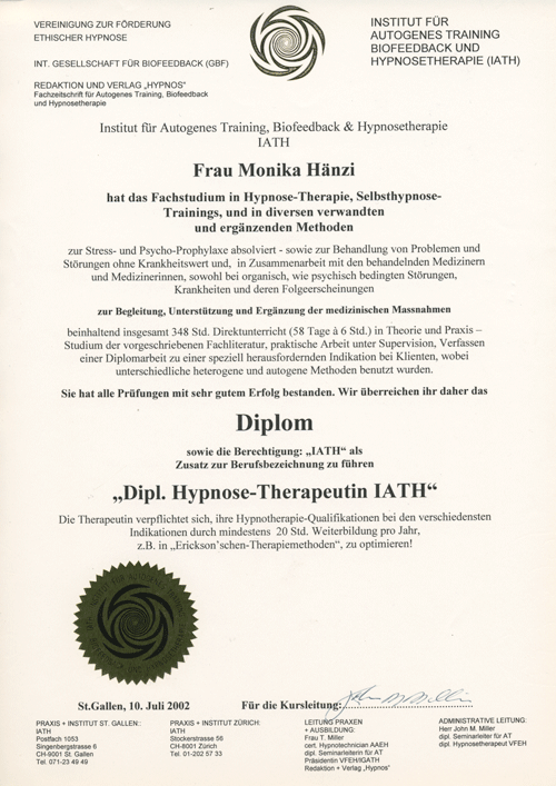 Diplom Hypnose